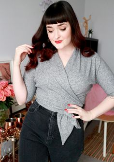 December Thoughts & a Cosy Wrap Top (B6285)