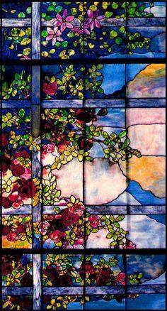 SKYLIGHT WINDOW TIFFANY 1900-1910 POSTCARD