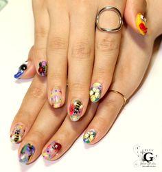 Happy spring nail #plusG #nail #nailart #naildesign