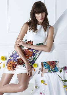 Catherine McNeil by Camilla Åkrans for Blumarine Spring:Summer 2015 ad campaign