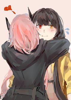 Neko Girl, Demon Wolf, Anime Girlxgirl, Anime Best Friends, Girls Frontline, In This World, Fan Art, Manga, Comics