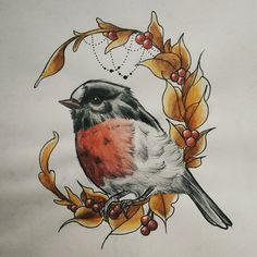 Popular Tattoos and Their Meanings Nature Tattoos, Body Art Tattoos, New Tattoos, Hand Tattoos, Kunst Tattoos, Tattoo Drawings, Robin Tattoo, Tattoo Bird, Arm Tattoo