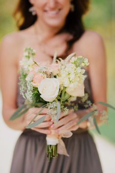 Bridesmaid bouquet; flowers by Joan at Aurora Exhibit Solutions | Sharing my real October wedding with the Pinterest world. | Tyler Scott Photography (website: http://tylerscottphotography.com/)