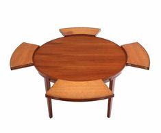 Rare Danish Modern Teak Round Expandable Top Dining Table In Excellent Condition For Sale In Blairstown, NJ Extendable Dining Room Table, Round Dinning Table, Modern Dining Table, Contemporary Dining Room Sets, Elegant Dining Room, Dining Room Design, Hans Wegner, Arne Jacobsen, Danish Modern Furniture