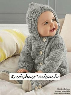 "PDF ""Knitting Pattern Baby Hooded J"", ""Ravelry: Seamless Baby Hoodie pattern Baby Knitting Patterns, Baby Sweater Patterns, Baby Cardigan Knitting Pattern, Knit Baby Sweaters, Knitted Baby Clothes, Hoodie Pattern, Knitting For Kids, Baby Patterns, Crochet Jacket"
