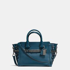 COACH Coach Swagger 27 In Glovetanned Leather With Willow Floral Detail