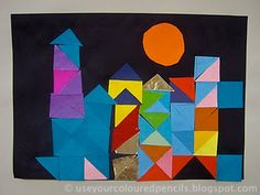 Paul Klle Inspired collages- I have some paper squares to use up...