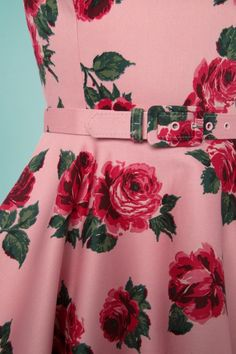 f1d3775080a Vixen by Micheline Pitt Pink Roses Swing Dress 102 29 25492 20180514 0014