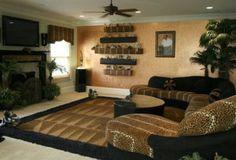 Leopard Decor for Living Room . 35 Inspirational Leopard Decor for Living Room . Living Room Setup, Living Room Themes, Living Room Designs, Cheetah Living Rooms, Cheetah Bedroom, Bed Furniture, Apartment Living, Leopard Decor, Decor Ideas