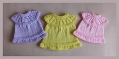 This sweet little dress is now in three premature baby sizes ~ small, medium and. This sweet little dress is now in three premature baby sizes ~ small, medium and… , Baby Dress Pattern Free, Baby Cardigan Knitting Pattern Free, Baby Dress Patterns, Baby Clothes Patterns, Baby Knitting Patterns, Free Knitting, Free Pattern, Knitting Dolls Clothes, Baby Doll Clothes