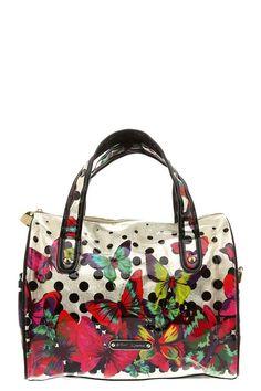 Betsey Johnson - 14K Butterflies Satchel handbag-love