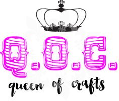 QOC Queen of Crafts svg,  dxf, eps, & png cutting file by CutMyLagniappe on Etsy