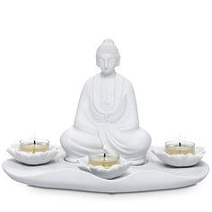 MEDITATION TEALIGHT HOLDER Item The peaceful aura of our meditating goddess transforms any corner into a calm retreat.biz/ritas for ordering.