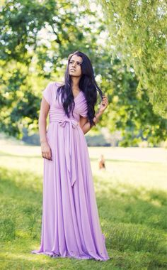Convertible/Infinity Dress - fully lined/hemmed - Lavender on Etsy, $109.24 CAD
