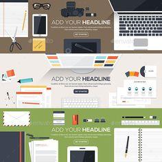 Buy Flat Designed Banners by on GraphicRiver. Flat designed banners for creative project, graphic design development, business, finance. Corporate Brochure, Corporate Design, Vector Design, Graphic Design, Design Templates, Concept Web, Amazing Websites, Flat Color, Web Design Inspiration