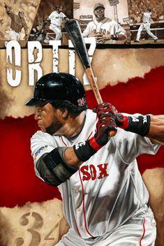 "David Ortiz of the Boston Red Sox in ""Mr. Clutch"" by Justyn Farano."