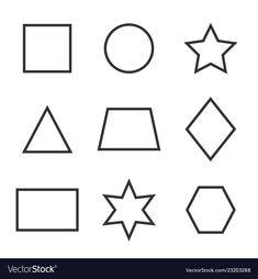 Flat Design, Web Design, Graphic Design, Kids Education, Icon Set, Geometric Shapes, Adobe Illustrator, Vector Free, Pdf