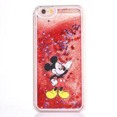 Cute cartoon glitter phone case for iphone 7 7plus 5 5s 6 6s plus 8 8plus X  mickey Minnie Stitch Mermaid Liquid Quicksand Cover 544775f25c9fc