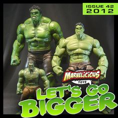 Marvelicious Toys - The Marvel Universe Toy  Collectibles Podcast // Issue 42: Let's Go Bigger - Listen to Marjorie, Arnie, Justin, and guest Jerry as they look at new toys from The Amazing Spider-Man and Avengers movies, all the upcoming exclusives at San Diego Comic-Con International, and a Timely Review of Captain Action Marvel heroes!  - Big news for Marvel collectors was revealed in the past two weeks from Hasbro, to the official announcement of Wave 4 Avengers figures.