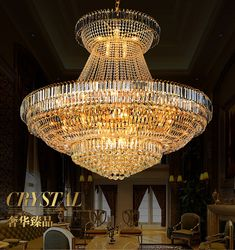 LED Modern Gold Crystal Chandeliers Lights Fixture Big Round Luxury Crystal Droplight Home Indoor Foyer Lighting Cheap Chandelier, Crystal Chandelier Lighting, Foyer Lighting, Large Chandeliers, Chandelier Lamp, Modern Chandelier, Ceiling Lamp, Ceiling Lights, Luxury Chandelier