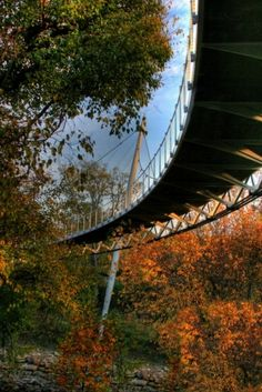 Liberty Bridge - Greenville South Carolina SC. I live only two hours from here, and this bridge and the park are perfect<3