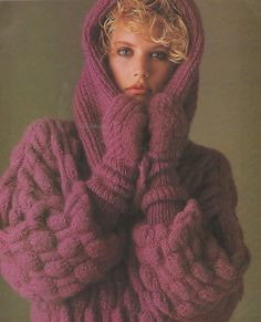Thirty seven elegant mohair and angora patterns to knit from Georges Picaud. 32 pages, softcover, magazine format, glossy color pictures. English Text.