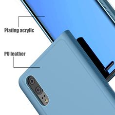 Bakeey Flip Smart Sleep Mirror Window View Bracket Protective Case For Huawei / PRO Window Mirror, Window View, Samsung Accessories, Cell Phone Accessories, Phone Gadgets, Storage Organization, Protective Cases, Pu Leather, Smartphone