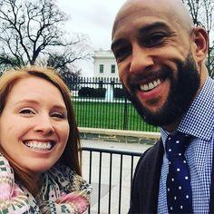 Yay!!! Tim Howard and Meg! by megckelley #WhiteHouse #USA