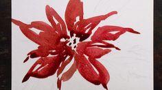 Christmas Card Poinsettia 1