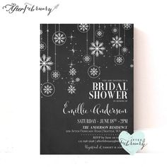 Hey, I found this really awesome Etsy listing at https://www.etsy.com/listing/206405553/winter-bridal-shower-invitation
