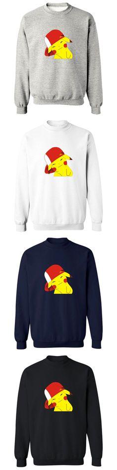 2016 New Autumn Winter pokemon go Men Women Long-sleeved hooded Hip-Hop pokemon go Capless Hoodies Sweatshirts