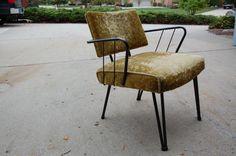 Detroit: Vintage / Mid Century Modern Iron Frame Arm Chair $80 - http://furnishlyst.com/listings/983678