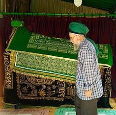 Türbe of Shaykh Nazim in his Dargah at Lefka, Cyprus