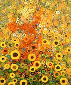 """Sunflower Dance"", Marcio Diaz, art xchange, Seattle. Was so glad got to see his work. I am a fan."