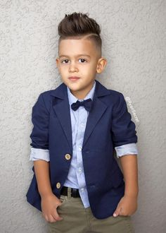 Cutie Ryan Secret in our Kardashian Kids blazer and shirt with removable bow tie.