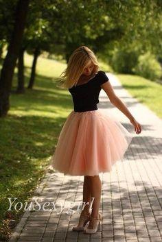 peach tutu skirt midi skirt barbie skirt Womens by YouSexygirl