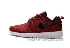 fa19b05bbdd4 2015 Winter Latest NIKE Roshe One X Yeezy 350 Flyknit Running Shoes Men Red  For Sale