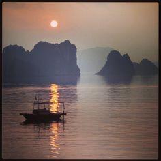 Sunrise over Halong Bay Vietnam holiday 2013