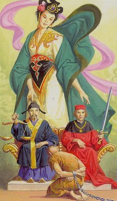 Justice - Tarot of the Journey to the Orient (Marco Polo Tarot)