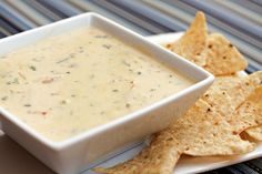 Queso Blanco made with jalapenos, monterrey jack cheese, heavy cream, cilantro and other yummy ingredients; this would be all I needed on a desert island, along with sweet tea of course!