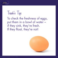 Do you check if your #eggs are fresh? - Trish