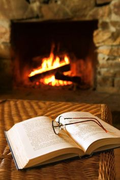 ...she loves to curl up with a book and I love her rock fireplace to chat by.