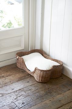 Rattan, Wicker, Dogs Of The World, Little Dogs, Diy Hacks, Popsugar, Dog Life, Bassinet, Cottage