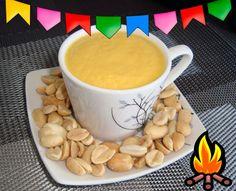 Bebida quente com amendoim e cenoura