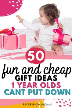 Shopping for Christmas or birthday gifts for your favorite 1 year old boy or girl? Here are fun and cheap gifts they will play with all year long. First Birthday Gifts Girl, Cheap Birthday Gifts, Cheap Presents, Cheap Gifts, Gifts For Boys, Girl Gifts, 1 Year Old Girl, Thing 1, 2 Year Olds