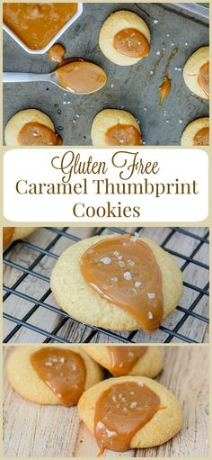 Gluten Free Caramel Thumbprint Cookies: Only 6 ingredients to these melt-in-your-mouth holiday cookies. Buttery and soft with the perfect amount of caramel. They are simply delicious!