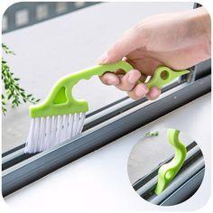1 unid mano de hendidura Trench puertas ranura cepillo de limpieza de la cocina aire acondicionado salida de aire persianas tubo de cepillo cepillo de limpieza