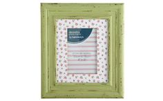 Memory Lane - Green Photoframe with Patterned Mount view 3