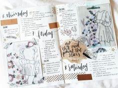 planner and bullet journal image Bullet Journal Notes, Bullet Journal Layout, Bullet Journal Inspiration, Sketchbook Inspiration, Creative Inspiration, Journal Diary, Journal Pages, Journal Ideas, Trip Journal