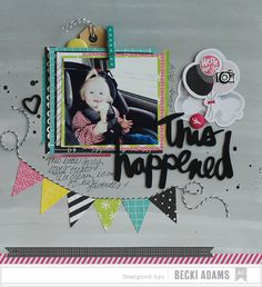 Becki Adams Designs: Quickly and easily add a banner to layouts and cards 12x12 Scrapbook, Scrapbook Page Layouts, Scrapbook Paper Crafts, Scrapbooking Ideas, Paper Crafts Magazine, Triangle Banner, Picture Layouts, Cricut, American Crafts